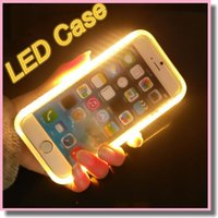 Wholesale Gold Battery Note - 2017 New LED Light Up Your Face Luminous Case Battery Case Self Case For iphone 7 6s plus Galaxy S7 Edge S6 edge Note 7 With-Retail-Package