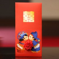 Wholesale Chinese Wedding Red Envelopes - Red Envelopes Traditional Chinese Wedding Design, New Year Gifts, Red Packets Pack of 6