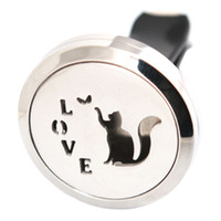 Wholesale circles car for sale - Love Cat mm Aromatherapy Essential Oil surgical Stainless Steel Pendant Perfume Diffuser Car Lockets Include Felt Pads