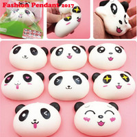 Wholesale Cute Panda Elastic PU Jumbo CM Colossal Squishy Cream Scented Slow Rising Mobile Phones Straps bag pendant