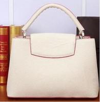 Wholesale Leather Tote Handbags Coffee - lady leather bag women fashion real leather handbag