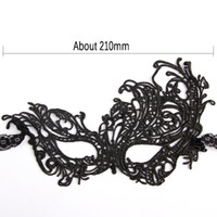 Wholesale Floral Cutout Dress - Wholesale-1pcs Beautiful Lady Black Lace Mask Cutout Floral Eye Mask for Masquerade Party Halloween Fancy Party Dress Costume #4