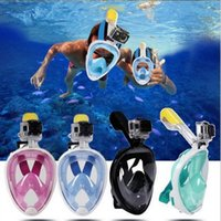 Wholesale dive masks camera for sale - Group buy Grid Brand Underwater Diving Mask Snorkel Set Swimming Training Scuba mergulho full face snorkeling mask Anti Fog No Camera Stand