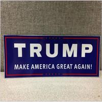 Wholesale Car Flag Usa - 76*230MM Trump Flag 2016 Make America Great Again Donald for President USA American Car Sticker Flag