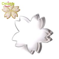 Wholesale Blossom Cutters - Delidge 20 pc Cherry Blossoms Cookie Mold Stainless Steel Cherry Blossoms Cake Fondant Cutter Cake Cupcake Flower Mold