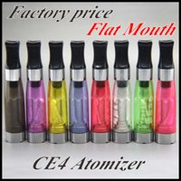 Wholesale Ce4 Flat Head - Wholesale-CE4 Clearomzier 1.6ml Flat Head Various Color Atomizer for eGo Series Electronic Cigarette