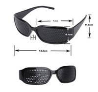 Wholesale Improving Eyesight - 2017 Hot Black Unisex Vision Care Pin hole Eyeglasses pinhole Glasses Eye Exercise Eyesight Improve Plastic Natural Healing DHL Free Ship