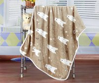 Wholesale Multi Function Baby Crib - Cartoon coral fleece blankets Air conditioning blanket flannel Multi-function children Home office car cover knee blankets Baby bath towel