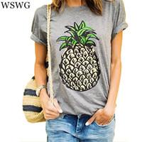 Wholesale Wholesale Oversized Shirts - Wholesale-2016 Women New Brand Oversized Casual Summer Designer Grey Round Neck Short Sleeve Printed Plus Size T-Shirt 61320