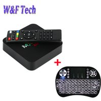 Wholesale android pc smart tv box for sale - Android TV Box MXQ Pro Amlogic S905W Quad Core k bit Smart Mini PC G G K with I8 Backlit Wireless Keyboard