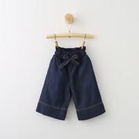 Wholesale Denim Short Pants Harem - Everweekend Girls Bows Harem Pants Cute Baby Denim Pants Western Fashion Princess Western Sweet Children Clothing