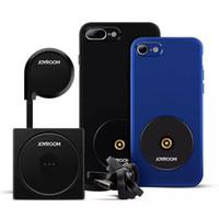 araba şarj cihazı toptan satış-Iphone 8 için Kablosuz şarj Telefon Kılıfı ile Manyetik Araba Hava Firar Tutucu iphone 8 8 artı