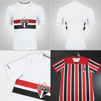 Wholesale Brazil Soccer - Sao Paulo home white Soccer Jersey 2017 Brazil Sao Paulo away Soccer Shirt Customized football uniform 17 18 Sales