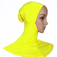 Wholesale Muslim Wholesalers China - China direct factory wholesale low price knit modal elastic Dubai Arab muslim women new style jaw bonnet hijab