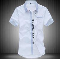 Wholesale Mens Army Dress Shorts - plus size 7xl mens shirts casual fashion men polo shirts 2017 short sleeve mens dress shirts pocket good quality social shirt polos for men