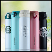 Wholesale Heating Pot - 6 color starbucks Thermos cup Thermos GMBH Thermos stainless steel heat preservation pot of coffee cup to drink bottles of 500 ml