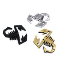 3D 3M Car Metal Adhesive Badge Логотип эмблемы Decal Scorpion для всех автомобилей Fiat Abarth 124/125/125/500 для стилизации автомобиля