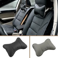 Wholesale Headrest Leather - 2017 New Arrival Artificial PVCHigh quality car headrest leather material neck pillow for easy removal car pillow Supplies Neck Auto Safety