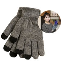 Wholesale Finger Touch Screen Glove Hot Sale Winter Colorful Gloves Knitted Gloves For Smartphone Tablet