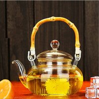 Wholesale Heat Tea Pot Set - Hot Drinkware 600ML Tea Set Borosilicate Glass Convenient Heated Teapot Transparent Office Flower Tea Pot