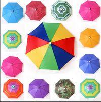 Wholesale Wholesale Outdoor Umbrella Fabric - Fashion Hot Usefull Umbrella Hat Sun Shade Camping Fishing Hiking Festivals Outdoor Brolly