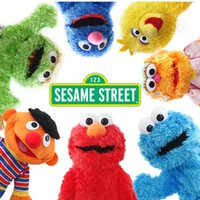 Grossiste - 7 Styles Anime Plush Sesame Street Puppet Elmo Big Bird Cookie Zoe Grover peluche jouets pour enfants Tamagochi Comfort Doll