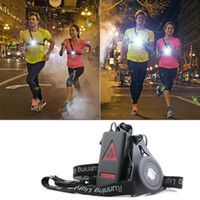 Wholesale Tool Chests Wholesale - Outdoor Sport Running Lights XPE LED Night Running Flashlight Warning Lights USB Charge Chest Lamp White Light Torch Tools ZJ0479