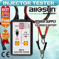 Wholesale car diagnosis - Professional Fuel Injector Tester 4 pulse Modes Auto Injector Detector 12V Fuel System Tool Car Nozzle Diagnosis Instrument All-Sun EM276