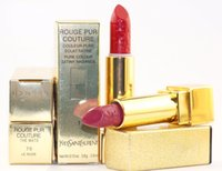 Wholesale good long lasting lipstick for sale - Group buy HOT good quality Lowest NEW Makeup rouge pur couture MATTE LIPSTICK SIX different colors