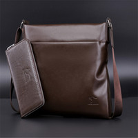 Wholesale Genuine Leather Bag For Mens - 2017 New hot sale brand name mens bags crossbody shoulder messenger bags for men geniuen leather soft casual style man bag wallet