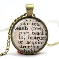 Wholesale Wholesale Dictionary - 10PCS Teach Dictionary Definition, Teacher Necklace