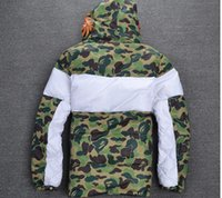Wholesale Red Stripe Clothing - best new arrive fashion ma1 brand men jacket kanye west Cotton clothes Virgil Abloh jackets camouflage red stripe badge windbreaker