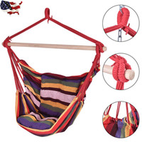Wholesale Deluxe Swing - Choose Outdoor Deluxe Hammock Rope Chair Porch Yard Tree Hanging Air Swing