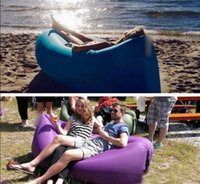 Wholesale Green Portable Chairs - Portable Sofa Chill Lazy Sofa Fast Inflatable Air Sleeping Bag Camping Bed Beach
