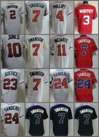 Wholesale Atlanta Baseball Jersey - Atlanta #7 2 Dansby Swanson 3 Dale Murphy 10 Chipper Jones 11 Ender Inciarte 23 David Justice 24 Deion Sanders Stitched Jerseys