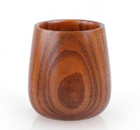 Wholesale Classic Wood Products - 2017 Small Wooden Wine Cup Primitive Handmade Natural Jujube Wood High Quality Wooden Mug Breakfast Beer Milk Drinkware Product