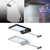 luces led canal al por mayor-36 LED Street Solar Gutter enciende los apliques de pared con poste de montaje 36LED Sensor de movimiento para exteriores Luz para lámpara de porche de granero