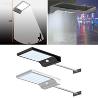 luz do poste ao ar livre venda por atacado-36 Sconces LED Solar Street Gutter luzes de parede com montagem Pole 36LED Outdoor Sensor de Movimento Detector de luz para Barn Porch Lamp