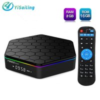 Wholesale Dual Tuner Media Player - T95Z Plus Android 6.0 Smart TV Box Amlogic S912 Octa Core 2GB 16GB 2.4G 5G Dual Band WiFi Gigabit LAN Media Player with Remote Control
