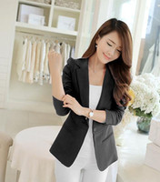 2017 herbst frauen Solide Voller Baumwolle Regular elegante blazer womenskorean damen anzüge casual mantel grundlegende jacken