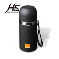 Wholesale Disposable Water Bottles - Wholesale- House Scenery Drinkware Stainless Steel Portable Thermos Cup Vacuum Flask Cup Hot Water Thermos Mug Bottle Straight Cup 350ml