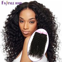 Nouvelle tendance! Fastyle Malaisie Kinky Deep Curly Extensions UNPROCESSED Mink Brazilian Peruvian Indian Virgin Hair Bundles 5pc / lot Cheap
