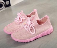 Wholesale Girls Shoes Size 32 - Cheap Baby Kids Kanye West 350 Boost Children Athletic Shoes Boys Running Shoes Girls Casual Shoes Baby Training Sneakers Size 21-32