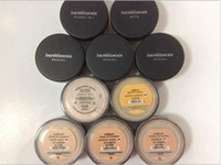 Wholesale Wholesale Mineral Pressed Powder - IN STOCK SPF15 SPF25 bare makeup Minerals powder original Foundation SHIMMER   MATTE foundation makeup powder DHL shipping free