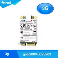 Wholesale Umts Gprs - Wholesale- For IBM Lenovo Thinkpad T410 W510 T410s X120e FRU:60Y3263 Gobi2000 Wireless 3G WWAN PCI-E Card GPS HSPA UMTS EDGE GPRS GSM