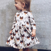 82332459ffa Girl Dress Fashion Fox Printed Good Quality Hot Sale Baby Girls Spring  Autumn Clothes Cotton Long Sleeves Children Dresses Kids Clothing