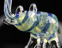 Wholesale Animal Burner - Glass Smoking Pipes Hand Pipe Asian elephant Oil Burner Pipes Tobacco Pipe Wholesale Latest New Arrival Lovely Animal Smoking Glass Pipes