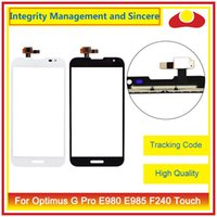 "Wholesale Screen Digitizer For Optimus G - High Quality For LG Optimus G F180 E973 LS970 E975 E977 4.7"" G Pro E980 E985 F240 5.5"" Touch Screen Digitizer Outer Glass Lens Panel"