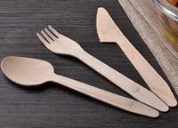 ingrosso forchette occidentali-Cucchiaio forchetta in legno economico Cucchiaio usa e getta occidentale Cucchiaio Accessori da cucina per torta da portata