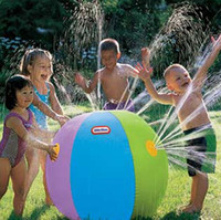 Wholesale spray fill - 2017 Summer Inflatable Water spray balloon Outdoors Play in the water Beach ball Children toy ball A080